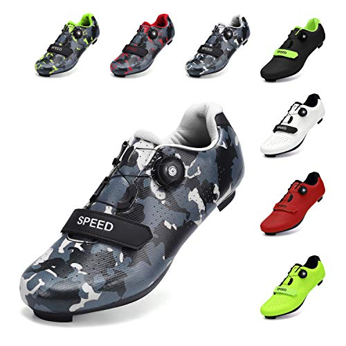 SWISSWELL Men's Road Cycling Shoes Compatible Mountain Bike...