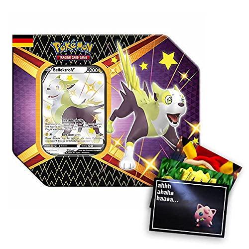 Lively Moments Pokemon Karten Tin Box SWSH 4.5 Glänzendes Schicksal Bellektro V DE und Exklusive GRATIS Grußkarte