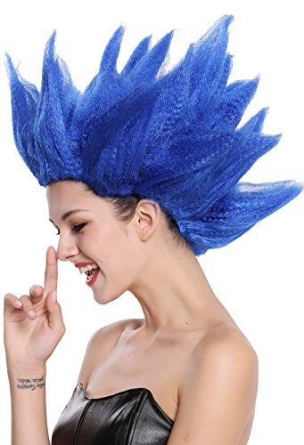 WIG ME UP ® - 91062-PC3 Peluca Hombres Mujeres Carnaval Halloween Cosplay Loki Flor tulipán Demonio Tempesta Diablo Azul