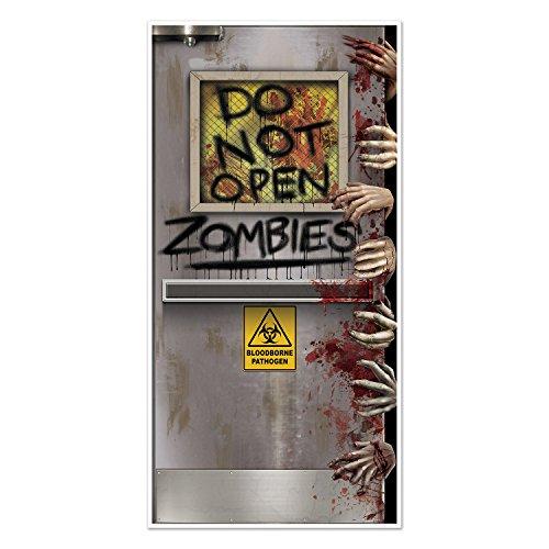 Beistle 37 Zombies Lab Door Cover, Plastic, Multicol