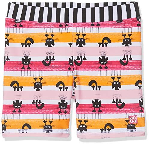 Schiesser Mädchen Water Cat Bade-Shorts Badeshorts, Mehrfarbig (Multicolor 1 904), 92 (Herstellergröße: 092)