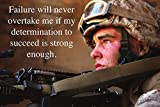 Determination to Succeed Motivation Quote US Military Discipline Poster 24x36