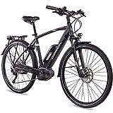 Chrisson E-Bike Pedelec E-Actourus 2019 - Bicicleta de trekking para hombre con 10G Deore Bosch PL, color negro mate