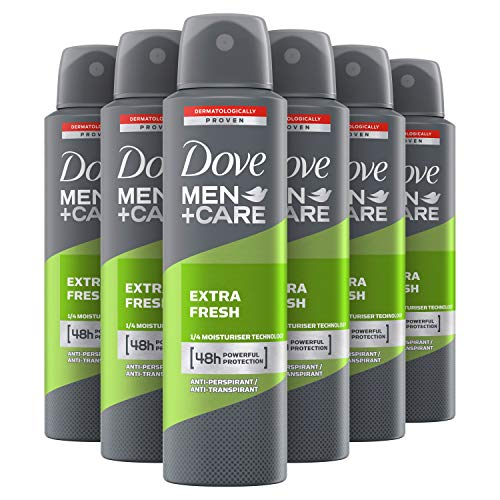 Dove Men+Care Extra Fresh Anti-transpirant Deodorant Spray 6 x 150 ml Voordeelverpakking