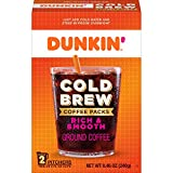 Dunkin' Cold Brew Ground Coffee Packs, 8.46 Ounces (Pack of 6) (Packaging May Vary)