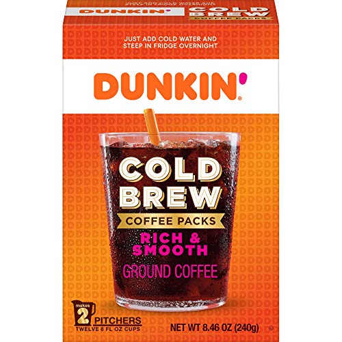Dunkin' Donuts Cold Brew Ground Coffee Pack(Packaging May Vary), Cold Brew, 50.76 Ounce
