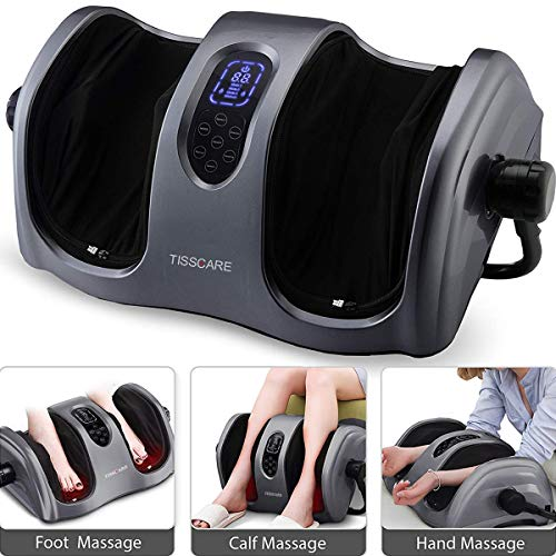 TISSCARE Shiatsu Calf Foot Massager Machine with Heat Leg Massager,...