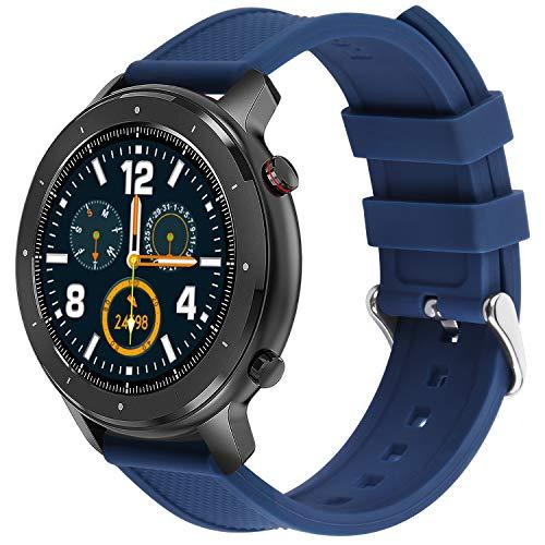 Fullmosa Correa Compatible de Silicona para Samsung Galaxy Watch/Gear Sport, Rainbow Correa de Reloj de Reemplazo para Samsung Gear S2 Classic/Huawei Watch 2 18mm 20mm 22mm