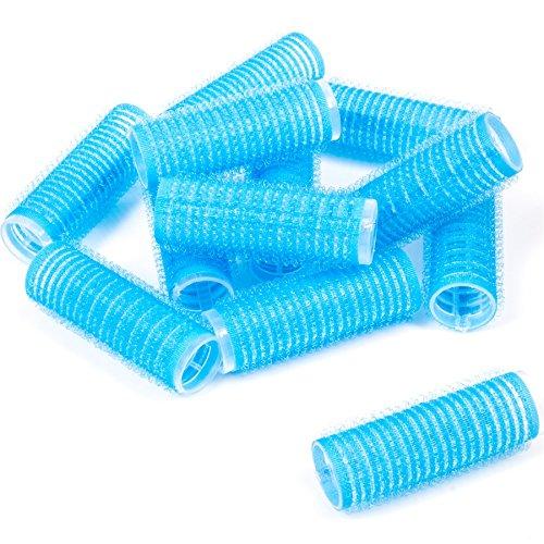 2 Packs Of 6 Blue Self Grip 20mm Velcro Hair Rollers (12 Total)
