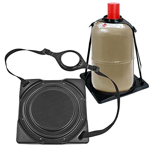 2x Gasflaschenhalter Froli ® schwarz passend für 5 oder 11 Kg Flaschen Stahl - Alu