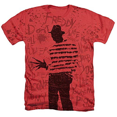 Nightmare on Elm Street Freddy All Over T Shirt & Stickers (Large)