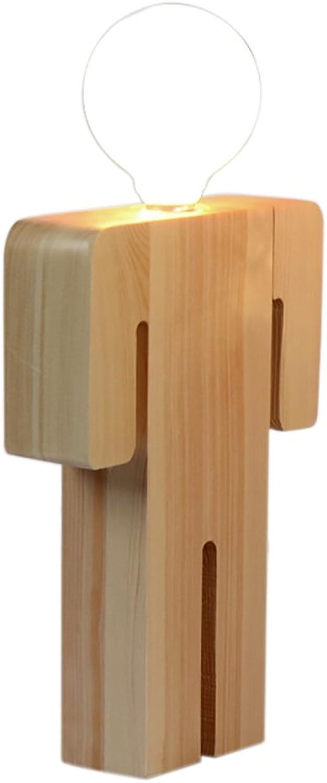 Tischlampe Holz Die Mann Frau Modellierung Tischlampe LED 10W 220V E27