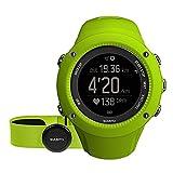 Suunto, AMBIT3 RUN HR, Montre GPS unisexe pour la course à pied, 15h d'autonomie, Cardiofréquencemètre + ceinture de poitrine, Étanchéité jusqu'à 50 m, Citron vert, SS021261000
