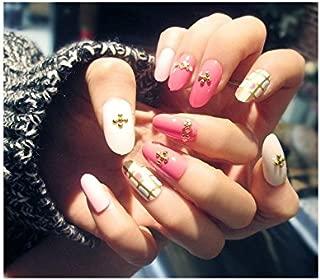 TBOP FAKE NAIL art reusable French long Artifical False nails 24 pcs set in Pink White color