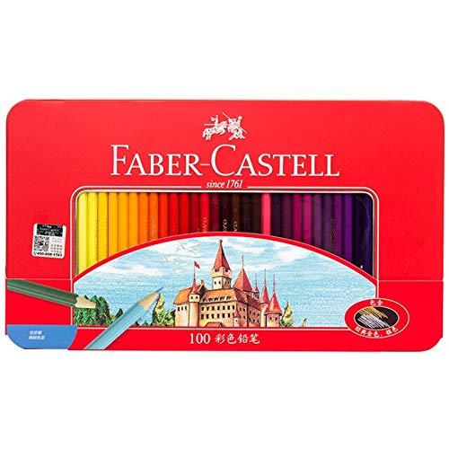 Set di latta di matite colorate classiche da 100 Colori per artisti che disegnano, schizzi, libri da colorare Prodotti d'arte per Bambini Premium