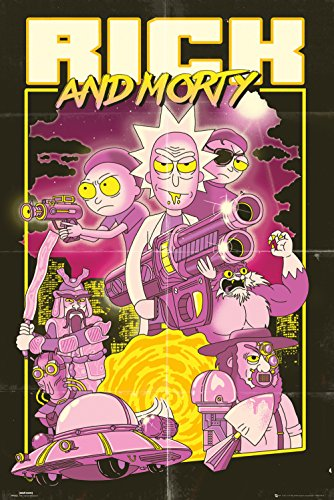 GB eye LTD, Rick y Morty, Action Movie, Maxi Poster 61 x 91,5 cm