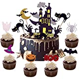 Halloween Cake Toppers,21pcs Halloween Cupcake Toppers Cake Picks...