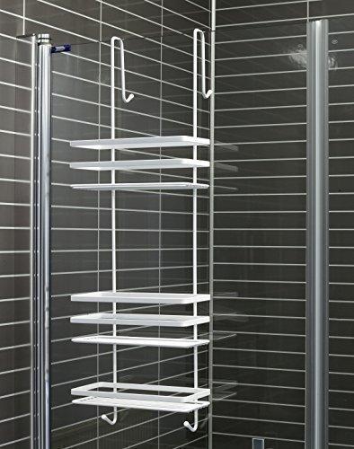 Duschkabinen Hängeregal 3 Etagen in weiß ohne Bohren Duschablage Badregal Duschregal auch in chrom erhältlich