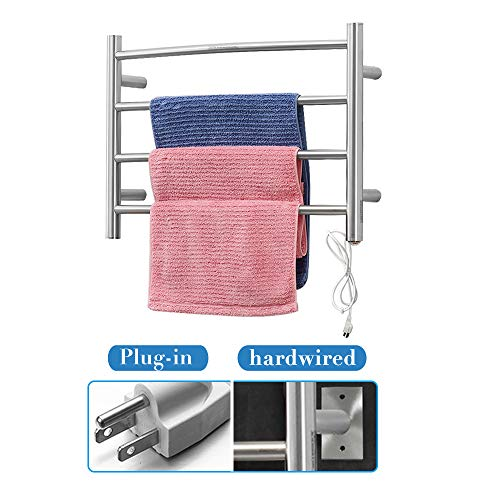 SHARNDY Electric Towel Warmer Curve Towel Bars ETW29 Brushed Nickel