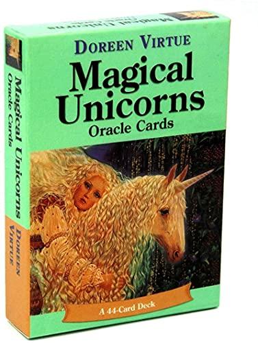 YQRX Magical Unicorns Oracle Tarjetas Unicornio, 44 Tarjetas de Tarot, utilizadas para Juegos de Mesa de Interior, adecuados para Tarjetas de Fiesta y Fiestas (Bolsas, manteles)