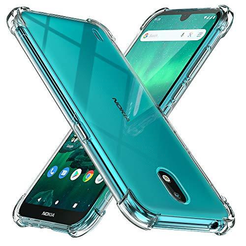 Peakally Nokia 1.3 Hülle, Soft Silikon Dünn Transparent Hüllen [Kratzfest] [Anti Slip] Durchsichtige TPU Schutzhülle Hülle Weiche Handyhülle für Nokia 1.3-Klar
