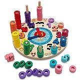 Hi!Leon 2-in-1 Montessori-Spielzeug ab 3 Jahre zum fantasieanregenden Spielen und Lernen, Waldorf-Spielzeug und Lernuhr Kinder mit Sternzeichen inkl....