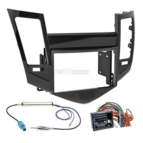 Chevrolet Cruze a partir de septiembre de 2din para radio de coche Set en Original Plug & Play calidad con antena adaptador, Radio Cable de conexión, accesorios y radio/Marco de montaje, color negro brillante