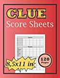 Clue Score Sheets: Clue Paper Sheets Refills