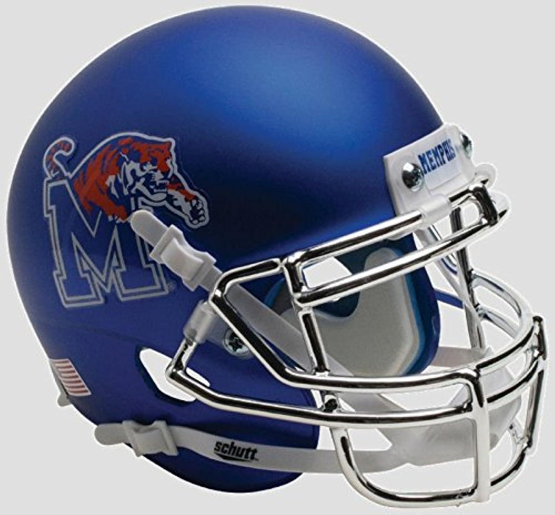 Memphis Tigers Mini XP Authentic Helmet Schutt B Satin with Chrome Mask B