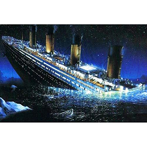 MAIYOUWENG Rompecabezas De Madera 1000 Piezas Titanic Hundido 1000 Piezas De Rompecabezas De Madera, Decoraciones Únicas para El Hogar Y Regalos