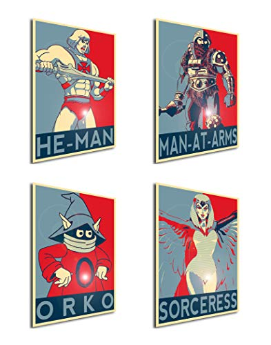 Instabuy Set von 4 Mini-Poster Propaganda Masters of The Universe 02