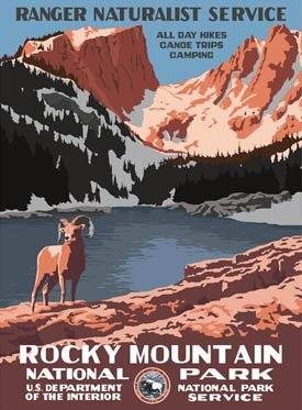 Ford Rocky Mountain National Park Poster