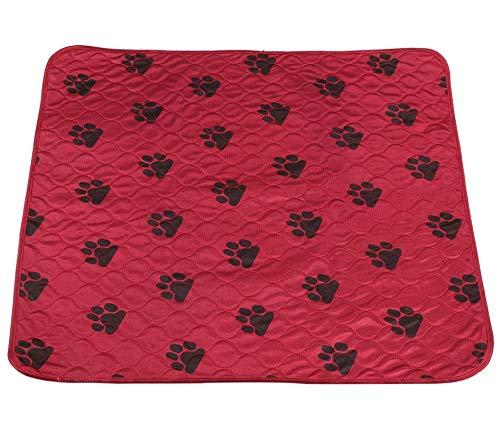 Delaman Almohadilla para Perros Lavable para Perros Orinal del Soporte Orina Impermeable Estera Reutilizable para Mascotas Perros Gatos Rojo Orinal para Perros (Size : L)