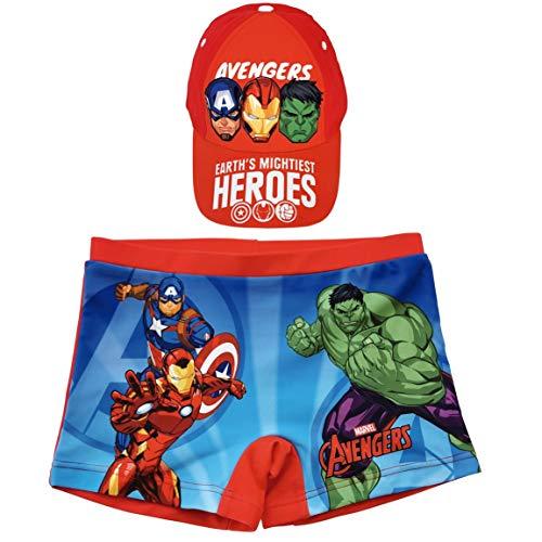 ARTESANIA Y DISEÑO TEXTIL, S.A. Bañador Avengers Los Vengadores Tipo Bóxer para Playa o...