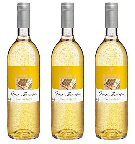 Bio Wein Grillo Weißwein Sizilien Italien 2019 Trocken Vegan (3 x 0.75l)