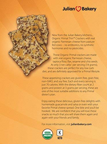 Primal Thin Crackers (Parmesan)(Organic)(Low Carb, Gluten-Free, Grain-Free) (8.4oz)