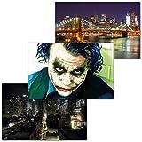 GREAT ART 3er Set XXL Poster – Joker in der Stadt –