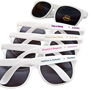 Fashioncraft, Custom Personalized Wedding Party Bridal Shower Favors Gift, Trendy Sunglasses, Set of 100