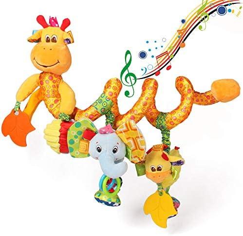 ORZIZRO Car Seat Toys Baby Giraffe Plush Spiral Activity Musical Toys for Stroller Crib Bar product image