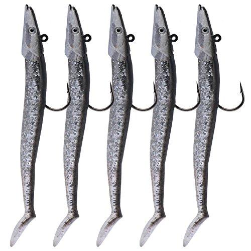 5 cebos de pesca QualyQualy para agua dulce, de 21 g y...