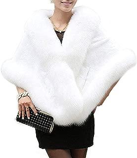 Fashion Women's Faux Fur Shawl- Women's Faux Fur Shawl Stole Wrap Cape Scarf for Wedding,Party etc