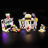 BRIKSMAX Kit di Illuminazione a LED per Lego Friends Il Fast-Food del Go-Kart,Compatibile con Il Modello Lego 41349 Mattoncini da Costruzioni - Non Include Il Set Lego.