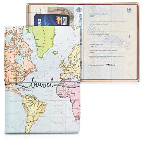 kwmobile Porte-passeport Voyage - Étui à Rabat avec...