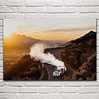 ラリーレースドリフトカーリビングルームデコレーションホームアートデコレーションポスター/ 60x90cm(フレームなし)