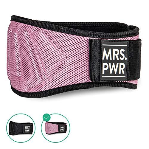 riijk MR. PWR Gewichtheber Gürtel Herren | MRS. PWR für Damen | Fitnessgürtel | Trainingsgürtel für Bodybuilding und Crossfit | Gewichtsgürtel für Damen undHerren