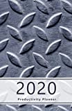 2020 Productivity Planner: Accomplish your goals. Set your goals and review the progress. Personal and professional to-dos, agenda, Gratitude section ... (Metal plate, close-up. Soft matte cover).
