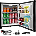 VBENLEM 1.4cu.ft Portable Refrigerator,12V DC &110V AC Compact Absorption Fridge,Black Mini Car Cooler with Lock Reversible Door,for Apartment Hotel Hospital Camping Traveling Vehicle RV Boat - 37~53?