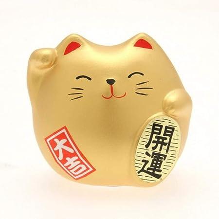 Kyoto Appare Maneki neko Japanese lucky cat porcelain Kinsai Gold Happy charm