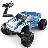 Tritow Blue Cool Remote Control Car RC Big Foot Car 2.4GHz 4WD 1/10 Motor sin escobillas 70km / h Coche de Carreras Eléctrico RTR High Speed Buggy RC Car Todo Terreno RC Car Toy Gift
