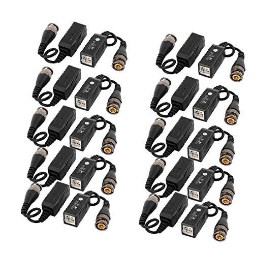 New Lon0167 10 pares Destacados de un solo eficacia confiable canal pasivo HD CCTV Video Balun Transceptor Transmisión UTP(id:117 3e 19 056)